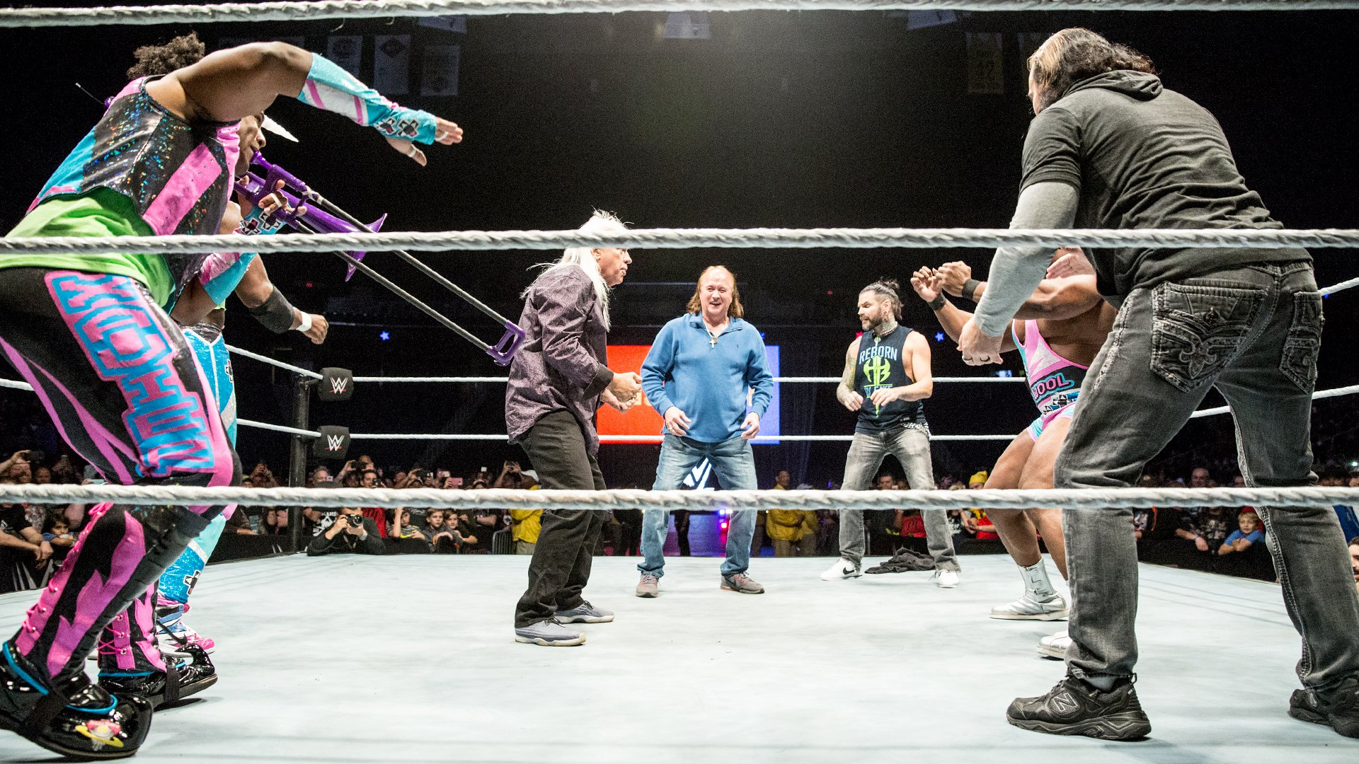 WWE Starrcade New Day Rock & Roll Express Hardy Boys