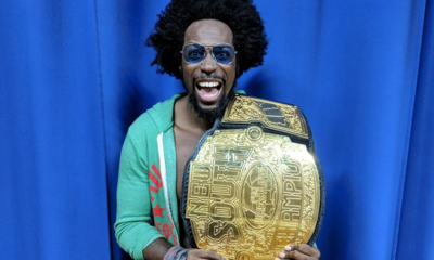 New South Pro Wrestling Sugar Dunkerton Huge Championship Belt