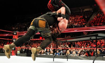 WWE Raw Braun Strowman Kane Table