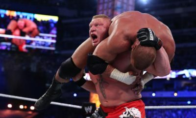 Brock Lesnar F5 Triple H WWE WrestleMania