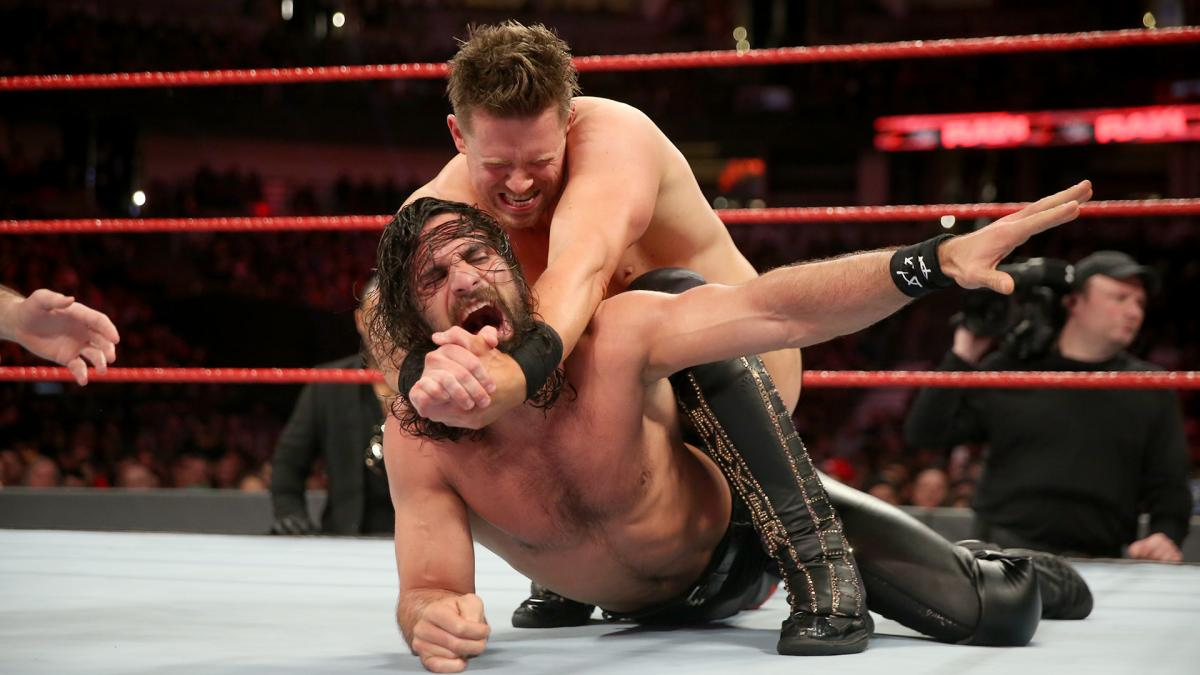 WWE Raw The Miz vs Seth Rollins