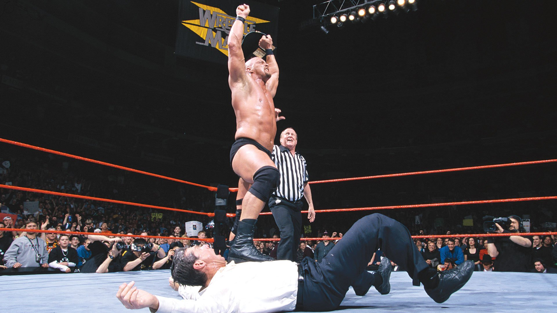 WrestleMania 15 Steve Austin Vince McMahon Sports Entertainment