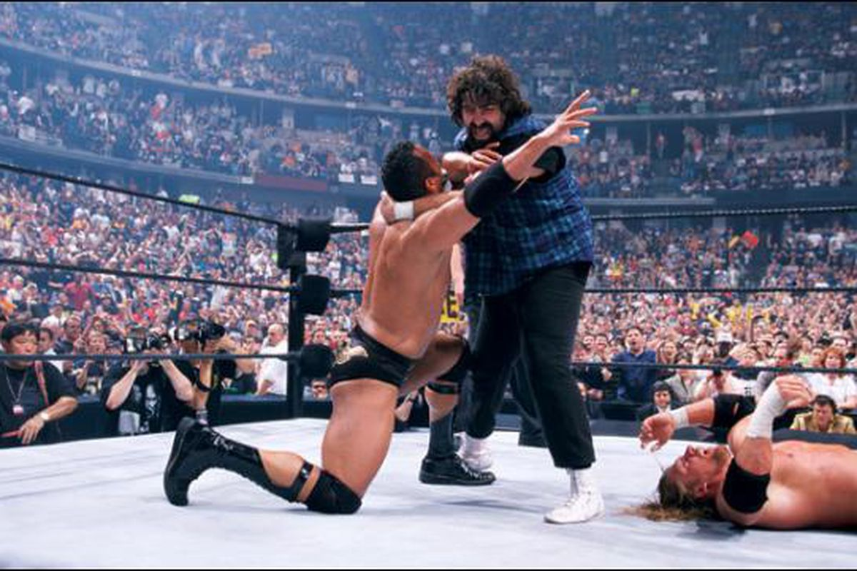 WrestleMania 16 The Rock Mick Foley Triple H