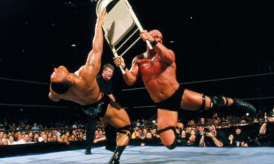 WrestleMania 17 The Rock Steve Austin Chairshot