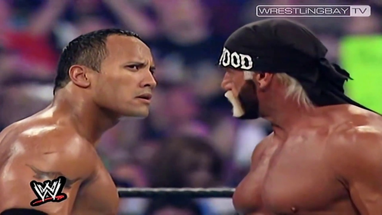 WrestleMania 18 The Rock Hollywood Hulk Hogan