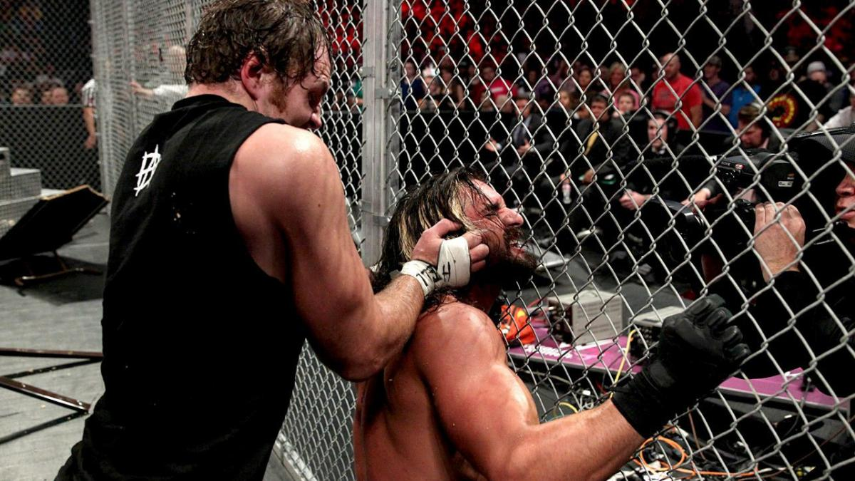 Dean Ambrose Seth Rollins Hell In A Cell WWE