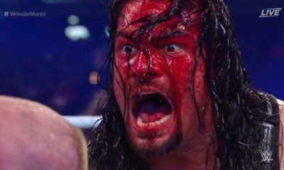 Roman Reigns Bleeds WrestleMania 34