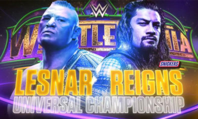 WrestleMania 34 Brock Lesnar Roman Reigns