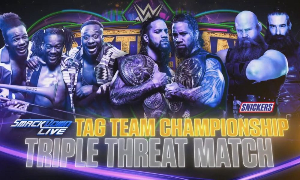 Image result for wrestlemania 34 smackdown tag team championship