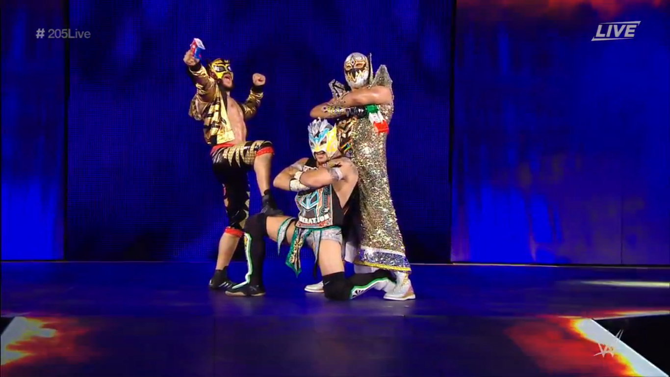 Lucha House Party with their matracas