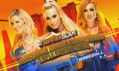 WWE SummerSlam Carmella vs Becky Lynch vs Charlotte Flair