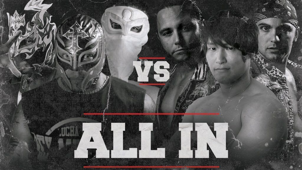 ALL IN Results Six Man Tag Rey Mysterio The Young Bucks Kota Ibushi