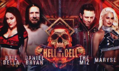 Hell In A Cell Results Daniel Bryan Brie Bella The Miz Maryse