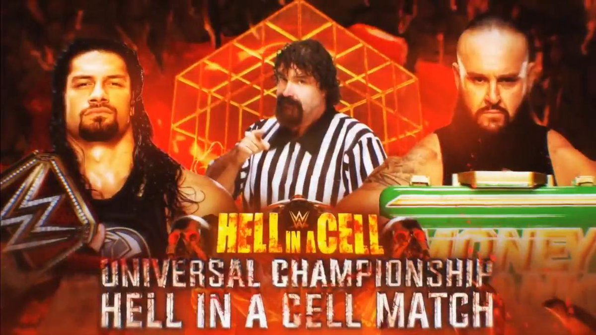 WWE Hell In A Cell Results Roman Reigns Braun Strowman Mick Foley