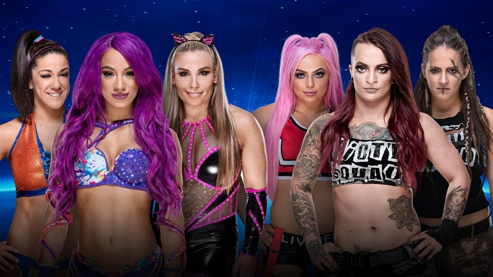 WWE Evolution Bayley Sasha Banks Natalya Riott Squad