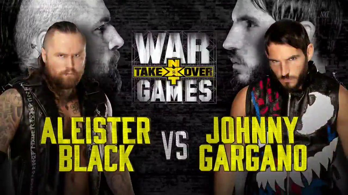 WWE NXT Takeover War Games Aleister Black Johnny Gargano