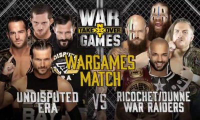 WWE NXT Takeover War Games Undisputed Era Adam Cole Roderick Strong Kyle O'Reilly Bobby Fish War Raiders Ricochet Pete Dunne