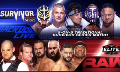 WWE Survivor Series 2018 Rey Mysterio Shane McMahon The Miz Jeff Hardy Samoa Joe Baron Corbin Dolph Ziggler DrewMcIntyre Braun Strowman Finn Balor Bobby Lashley