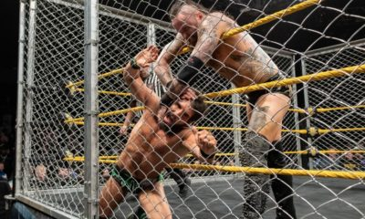 WWE NXT Aleister Black Johnny Gargano Steel Cage Match