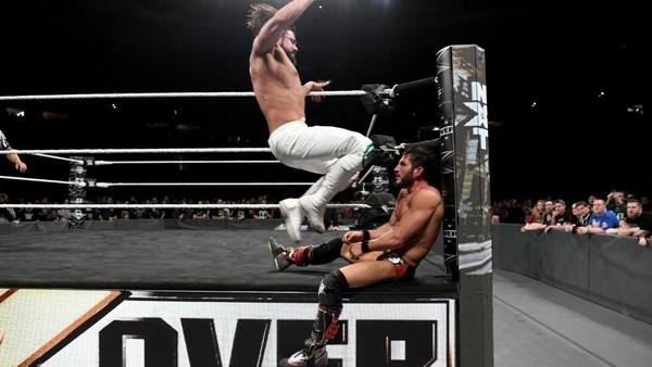 Andrade Almas Johnny Gargano Takeover match