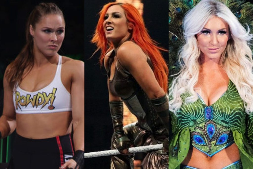 Ronda Rousey Becky Lynch Charlotte Flair