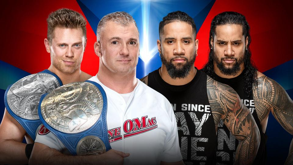 WWE Elimination Chamber Shane McMahon The Miz The Usos