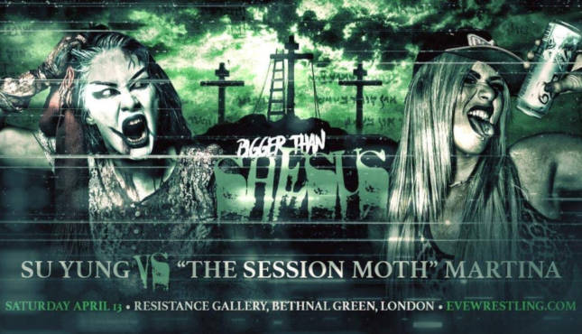 Pro Wrestling Eve Su Yung Session Moth Martina