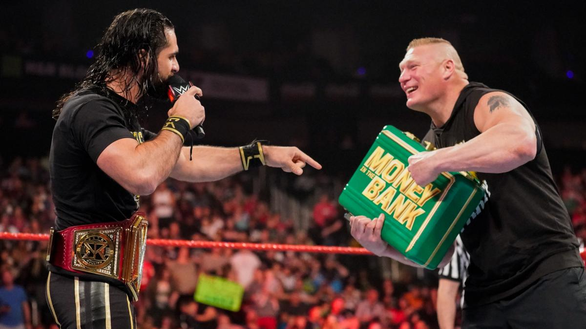 WWE RAW YouTube Brock Lesnar Seth Rollins Money In The Bank