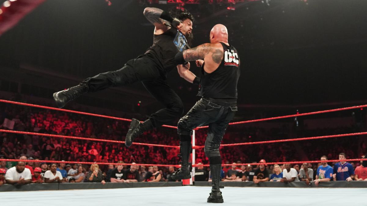 WWE Raw Roman Reigns Luke Gallows