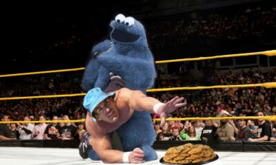Sesame Street Cookie Monster Wrestling