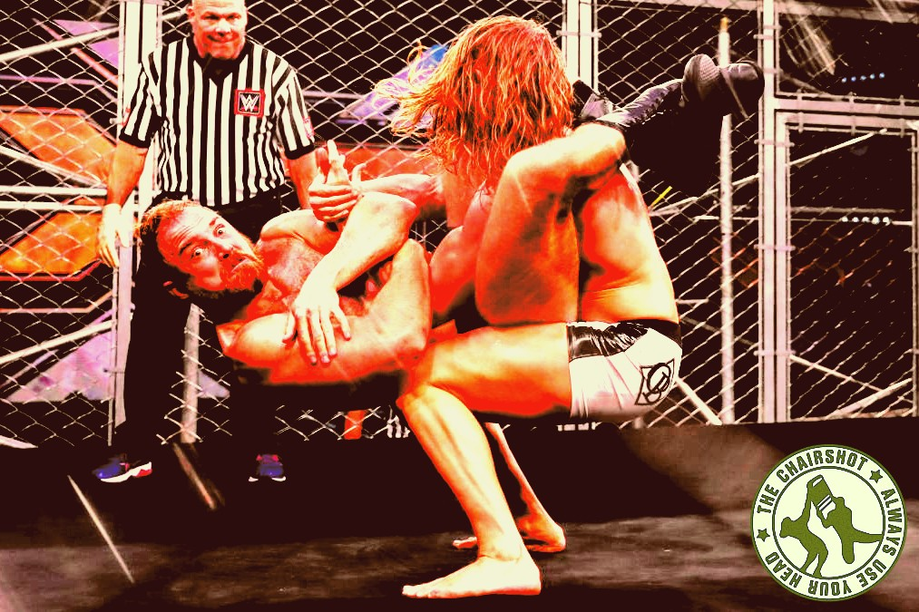 WWE NXT Matt Riddle Timothy Thatcher Fight Pit Cage