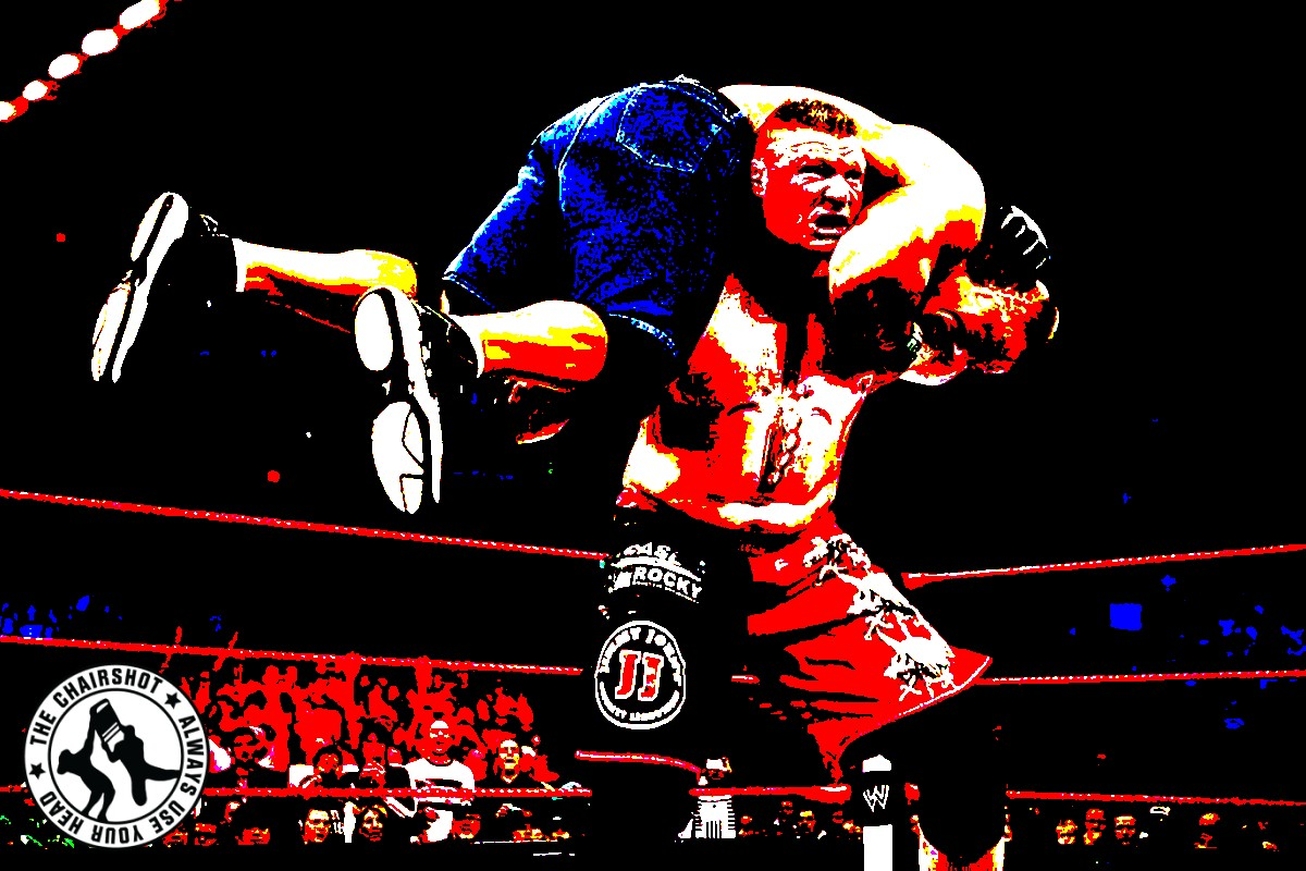 Brock Lesnar John Cena WWE Extreme Rules Chairshot Edit