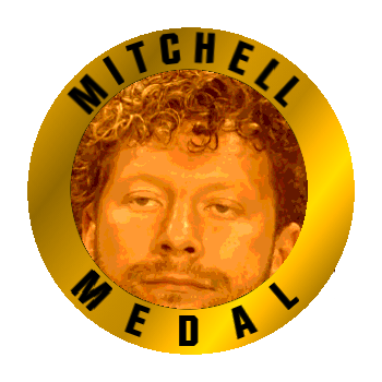 Mitchell Medal Omega Face