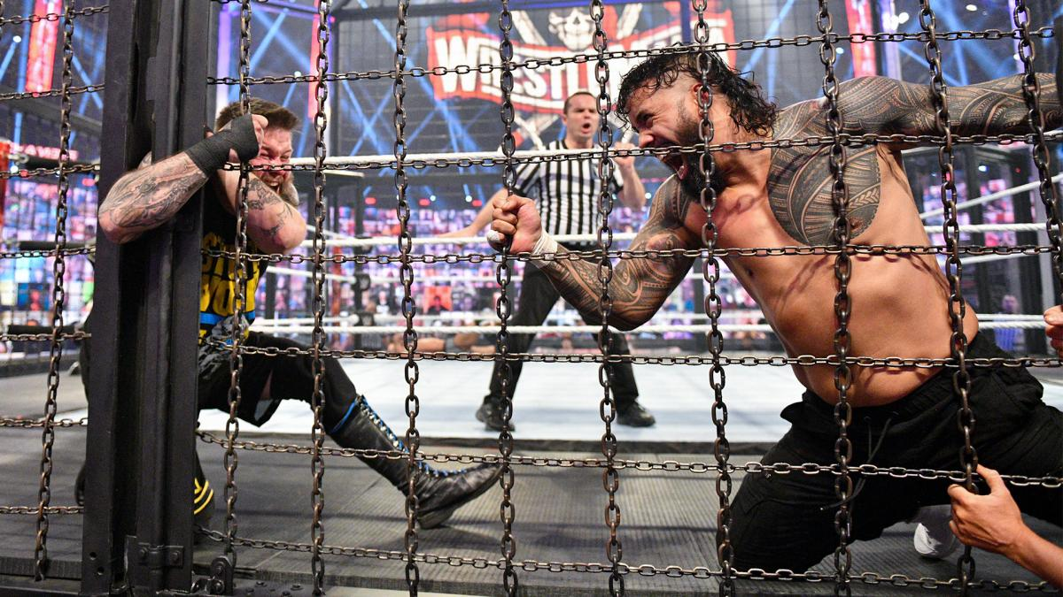 WWE Elimination Chamber 2021 Kevin Owens Jey Uso